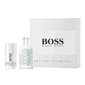 Hugo Boss Bottled Unlimited woda toaletowa spray 100ml + dezodorant sztyft 75ml /Zestaw/