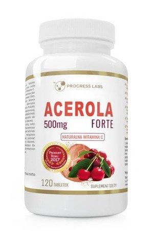 Progress Labs Acerola Forte 500mg suplement diety 120 tabletek