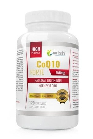 WISH Koenzym Q10 Forte 100mg Natural Ubichinon suplement diety 120 kapsułek